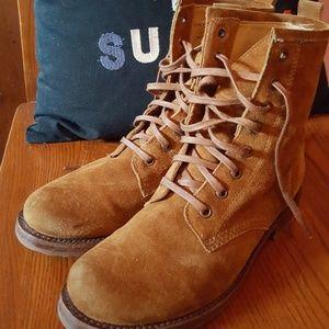 Frye Suede Veronica Combat Boots